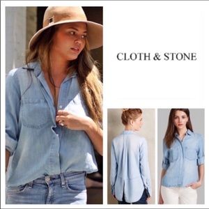 🆕Anthropologie Cloth & Stone Splittail.  NWOT.